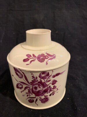 Georgian Soft Paste Creamware Tea Caddy - circa 1790 England