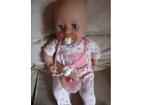 Baby Annabell Doll with soother, bottle and additional outfit.
