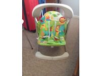 Fisherprice Rainforest baby swing with batteries. Great condition.