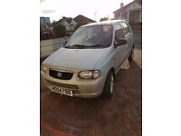 5 door 2004 silver Suzuki alto car for sale with current MOT and Tax. One previous owner.
