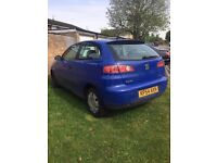 2004 Seat Ibiza, 1.2 Manual, Petrol with 3 Months Mot