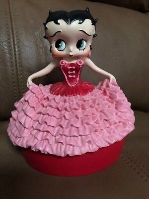 Vintage BETTY BOOP Elegant Covered Box for Small Items or Rings & Things - NICE!