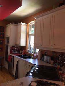 Armoires de cuisine et ilot central