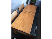 Vintage school desk and chairs