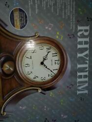 Rhythm Clocks Tuscany II Wooden Musical Mantel Clock decor rare nib new