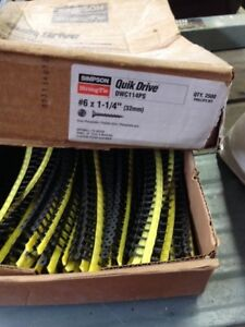 Quick Drive Screws, 1 1/4