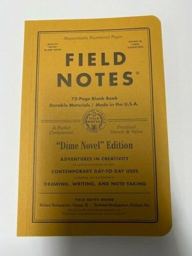 """Field Notes """"Dime Novel"""" Blank Books Opened But Never Used Single Books"""