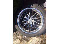"""Volkswagen VW Transporter T5 18"""" Alloy Wheels + Tyres"""