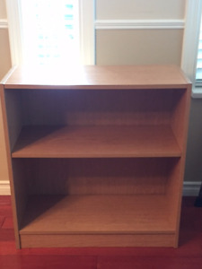 BEECH BOOKCASE WITH ADJUSTABLE SHELF