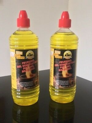 Fire Gel or Gel Fuel for Gel burner x 2 Ltr bottle