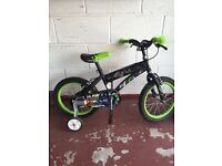 Ben 10 Kids bike with stabilisers