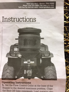 ATV Spreader 12 Volt, Seed and Fertilizer