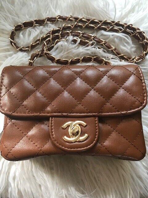 SALE Women s Mini Classic Flap Handbag Shoulder Bag Brand New UK Tanned Gold 83de00495aab9