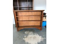 Solid polished wood 3 shelf book case in excellent condition.