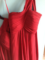 Bridesmaid dresses. One shoulder, long dresses