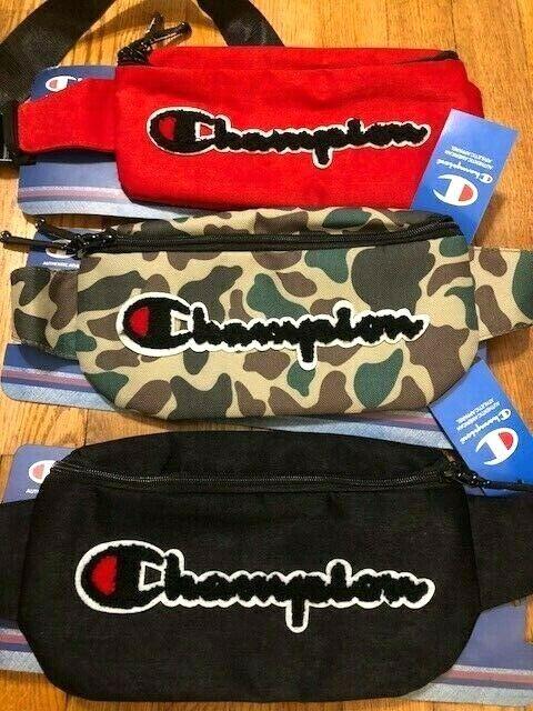 CHAMPION Large Logo Camo Black Red Prime Shoulder Waist Fann