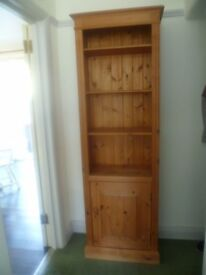Tall Solid Pine Unit Shelves Cupboard Cabinet Farmhouse Style