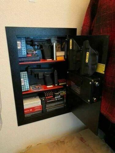 Safe Digital Wall Mounted Gun Security System Dual Lock Box Home Safe Security