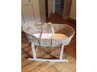 Natural Fiber Moses Basket