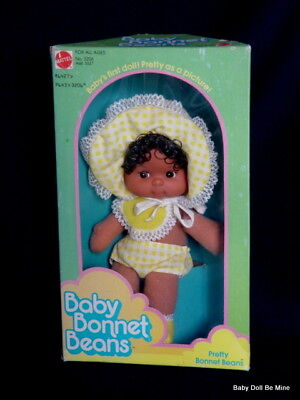 Vintage * Mattel Pretty Baby Bonnet Beans * # 3206 African American Doll in Box