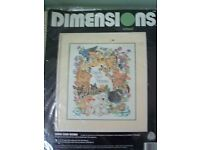 Unopened Dimensions Crewel Work Kit. Title 'Save Our Home'