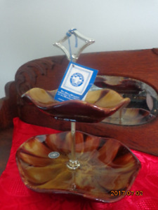 Vintage Blue Mountain Pottery 2-Tier Plate With Tags: Only $10!