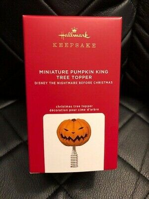 Hallmark Keepsake MINIATURE PUMPKIN KING TREE TOPPER Nightmare Before Christmas