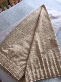 Single gold full length curtain