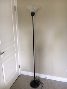 Black and Clear Floor Lamp
