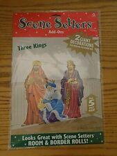 Christmas Scene Setters Add-Ons Three Kings Nativity Wall ...