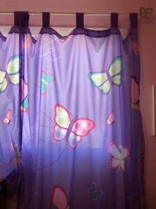 Butterfly Curtains & Rod