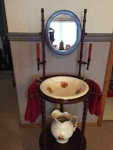 Old Fashioned Wash Basin Table Strathcona County Edmonton Area image 1