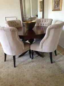 Designer dining and lounge set - table/chairs/pillows - original