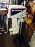 Evinrude 9.9 with 12ft aluminum boat
