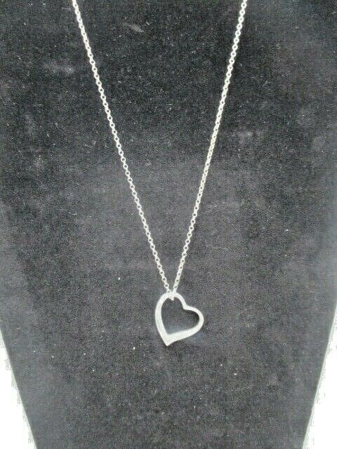 "Sterling Silver Heart,(925) on 18"" Chain"