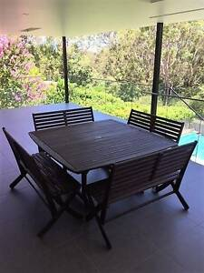 Jensen Jarrah 8 seater outdoor dining setting Hunters Hill Hunters Hill Area Preview