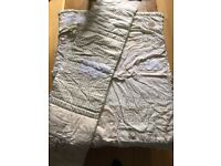 Baby Cot Bed Bedding Set - neutral matching quilt and bumper