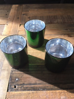 68 Green/Silver 3 inch Dia. Elegant Votives- Box of 68-$15