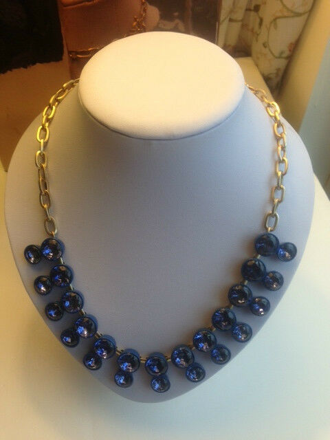 J.Crew Double Crystal Brulee Necklace ( Royal Blue)