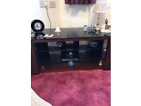 Modern yet classic Mahogany/glass TV stand cost nearly 400 selling for 150