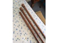 Curtain poles, finials, brackets, rings - assorted