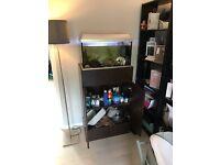 Fish tank and custom built base unit
