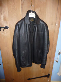 Cool Leather Bomber Jacket (size L) + Leather Jeans x2 (W32/34)