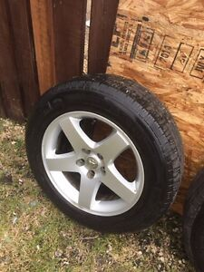 """17"""" Michelin All Season Tires with Dodge Charger Rims"""