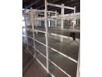 JOB LOT 100 bays of LINK industrial shelving 2.5m high AS NEW ( storage , pallet racking )