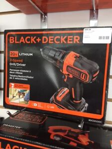 BLACK AND DECKER 20V LITHIUM 2 -SPEED DRILL/DRIVER!