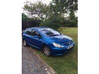 Peugeot 307 Blue Hatchback for Sale. In good condition inside and out. Mot'd till December 2017