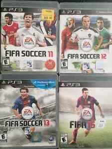 PS3 FIFA 11,12,13 + 15