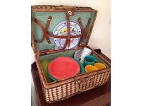 Genuine WHITTARD of CHELSEA PICNIC HAMPER 45 x Plastic Contents Festival Outdoor