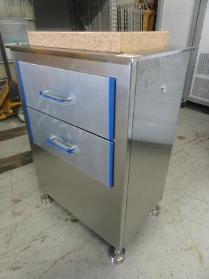 S.s. 17x25x35h Cabinet W Starrett Grade Aa 12x18x2 Granite Surface Plate